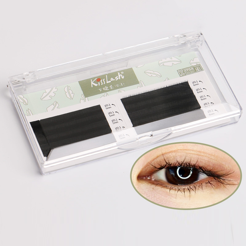aed2583c3dd Aliexpress.com : Buy 0.1 Thickness eyelash Extension J Curl 5mm 6mm Eyebrow  Eyelash Extension Lashes Bottom lashes under eye lash from Reliable False  ...