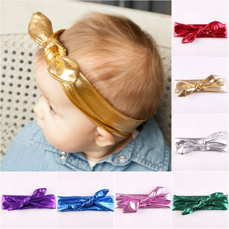 100% Quality Kids Hairband New Arrival 2017 Rabbit Headband Solid Lovely Headbands For Baby Girls Cute Bunny Ear Head Band Hair Accessories