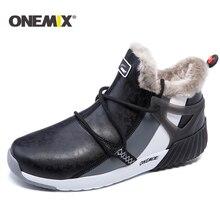 Onemix新冬のランニングシューズ快適な男性の女性のブーツ暖かいウールスニーカー屋外ユニセックスアスレチックスポーツの靴