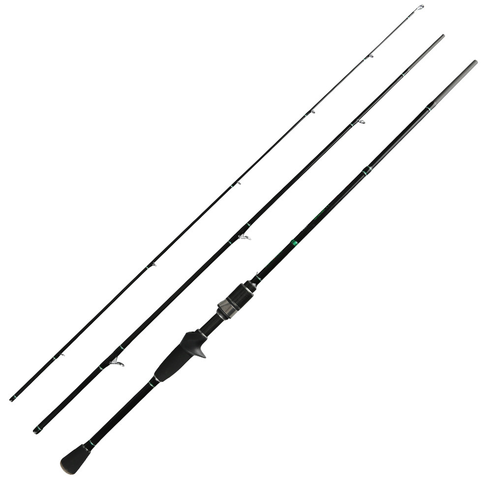 Fast Action Spinning Rod 2.1m Carbon Casting Rod L Power 2-10g 3 Sections Trout Fishing with K Serise Rings Stream Rod