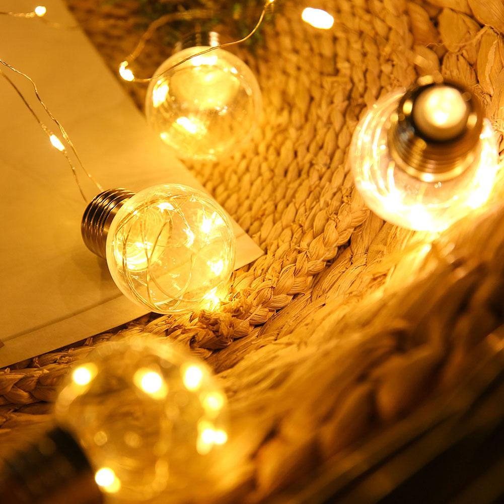 LED Lights String Bulbs Lamp Copper Wire European Standard For Garden Path Yard Outdoor JA55