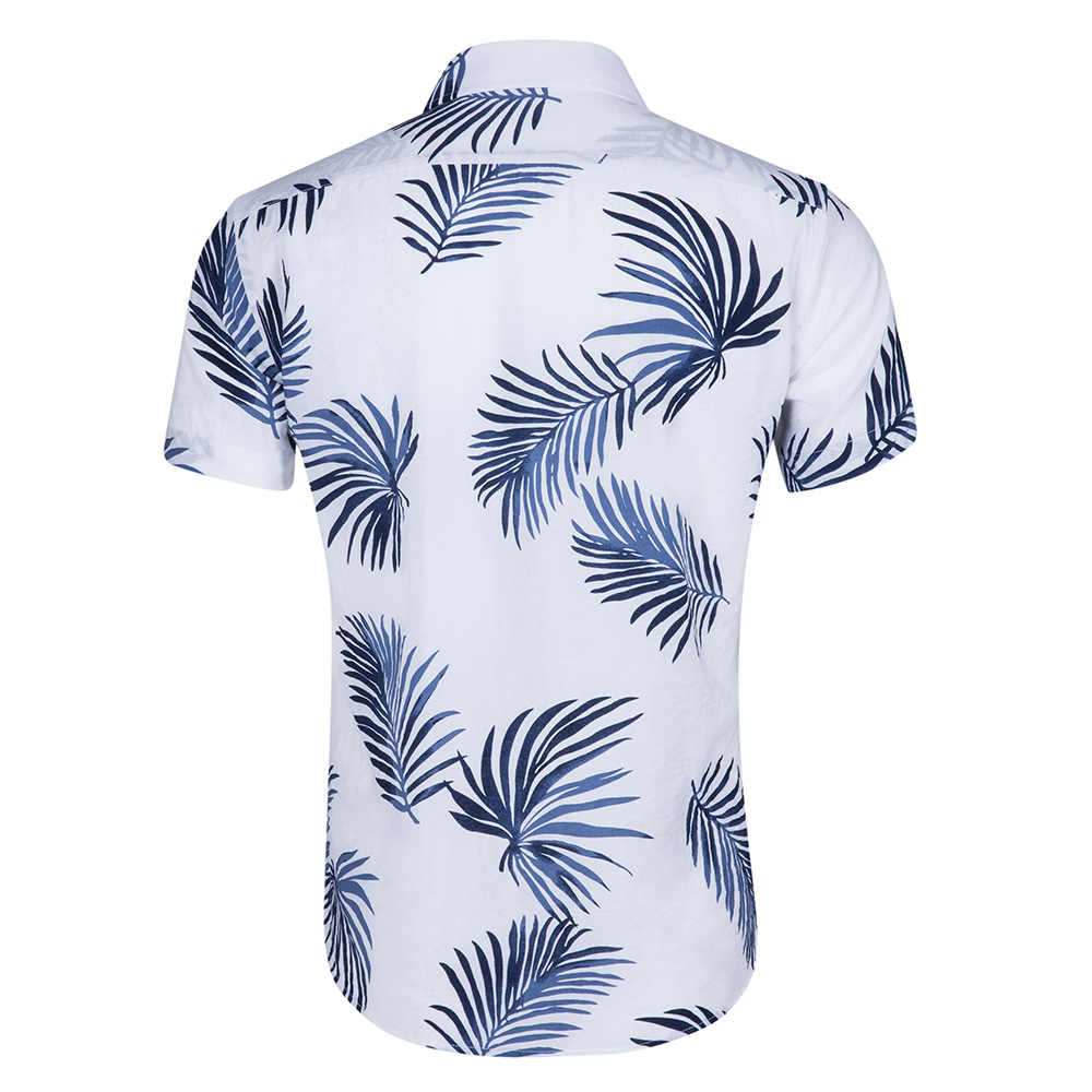 Мужская гавайская рубашка 2018 летняя новая Повседневная Женская сорочка Homme с цветочным принтом, короткий рукав плюс размер пляжное вечернее платье рубашки Camisa