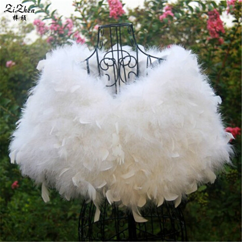 New Luxury Natural Ostrich Fur Cape Wedding Coat With Feather Piece Winter Scarf For Women Shawl Pashmina 20150911-2