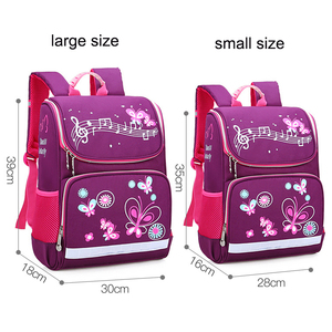 Image 3 - New Children School Bags Girls Butterfly School Backpack Kids Satchel Boy Car Knapsack Girl Backpack For School Space Bag