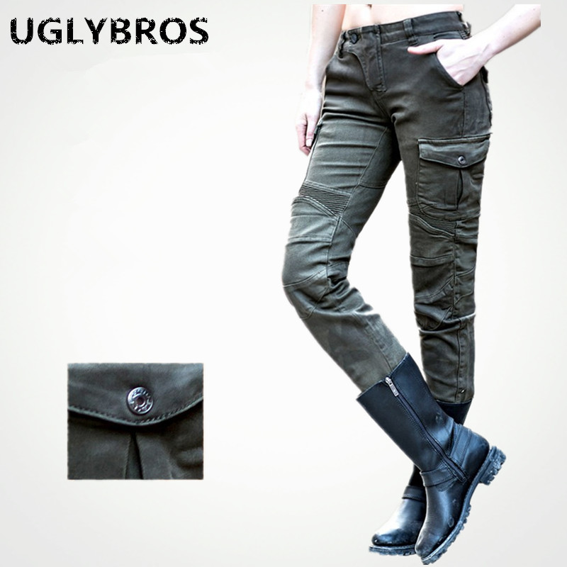 Casual Ladies Army Green font b Jeans b font Uglybros Motorpool Ubs06 font b Jeans b