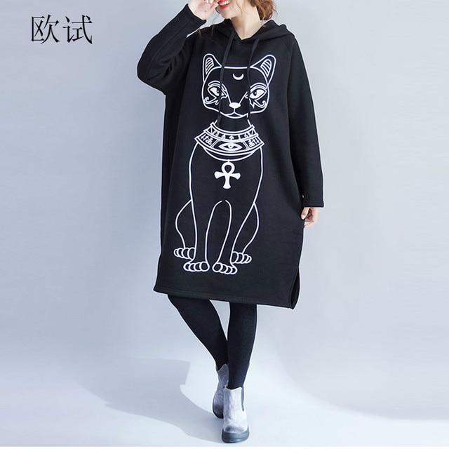 Korean Long Harajuku Bts Oversized Hoodie Dress Women Hoodies Sweatshirts  Black Kawaii Sweatshirt Sudaderas Mujer 2018