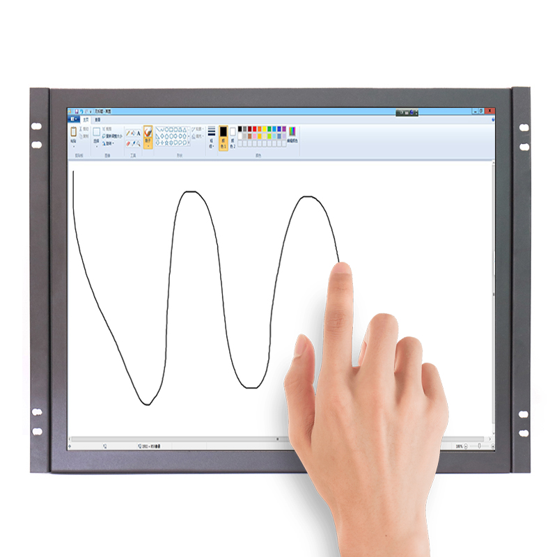 GC17 17 pouce moniteur résistif d'écran tactile industriel d'affichage à cristaux liquides de cadre ouvert moniteur tactile avec VGA/HDMI/Haut-parleurs USB