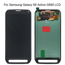 Dành Cho Samsung Galaxy Samsung Galaxy S6 Hoạt Động G890 G890A Màn Hình LCD Hiển Thị Màn Hình Bộ Số Hóa Thay Thế 100% Được Kiểm Tra