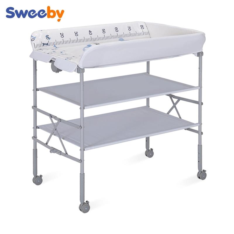 Table à langer table de soins bébé table de bain multifonction réglable en hauteur nouveau-né table à langer