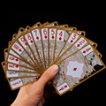 Waterproof Transparent Pvc Poker Gold Edge Playing Cards Dragon Card Novelty High Quality Collection Board Game Gift Durable