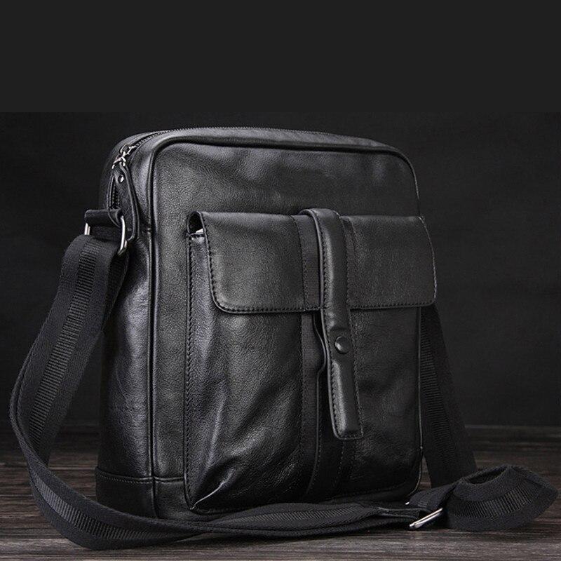 Aktentaschen Gepäck & Taschen Kenntnisreich 2016 Neue Mode Luxus Echtem Leder Herren Messenger Tasche Büro Tasche Leder-umhängetasche Männer Aktentasche Schwarz Kostenloser Versand