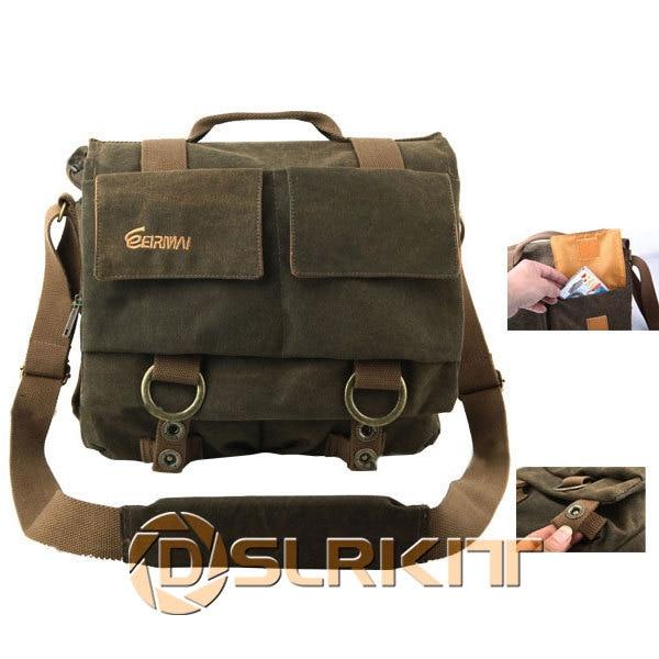 ФОТО DSLR Camera Messenger Canvas Bag for Canon 600D 60D 7D 5DII for Nikon D5100 D90 D300 D700