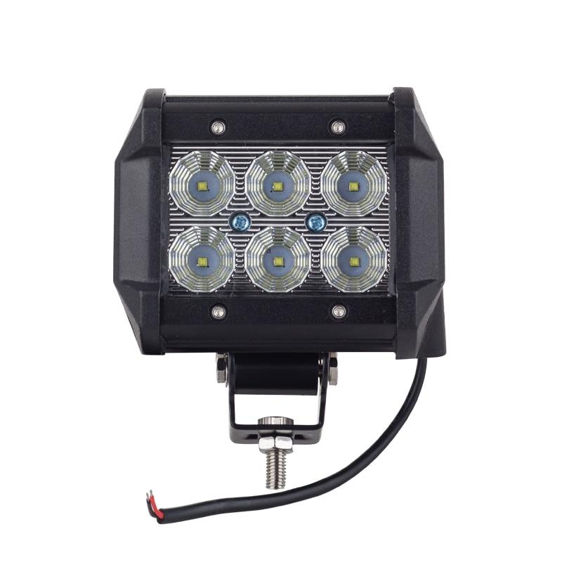 Cree chip LED 18W Work Lamp 4 Inch Light Bar Offroad 12V IP67 FLOOD FOR 4x4 OFF ROAD ATV TRUCK BOAT UTV WORKLIGHT