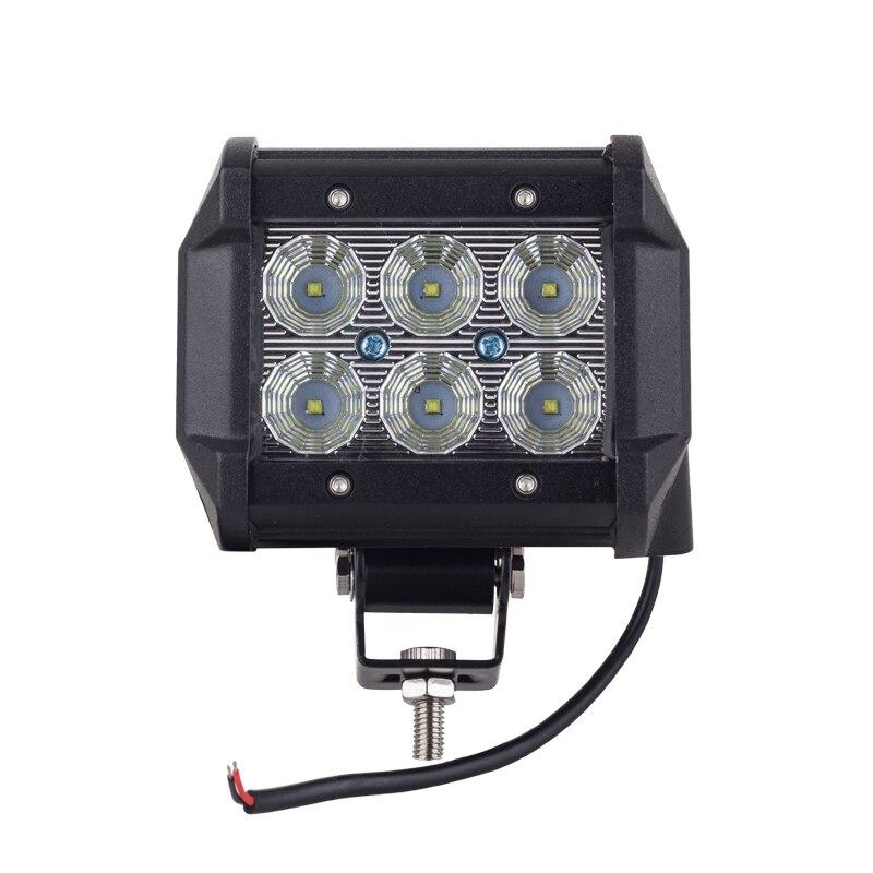 Cree puce LED 18 W Travail Lampe 4 Pouce Lumière Bar Offroad 12 V IP67 FLOOD POUR 4x4 HORS ROUTE ATV CAMION BATEAU UTV LAMPE de TRAVAIL