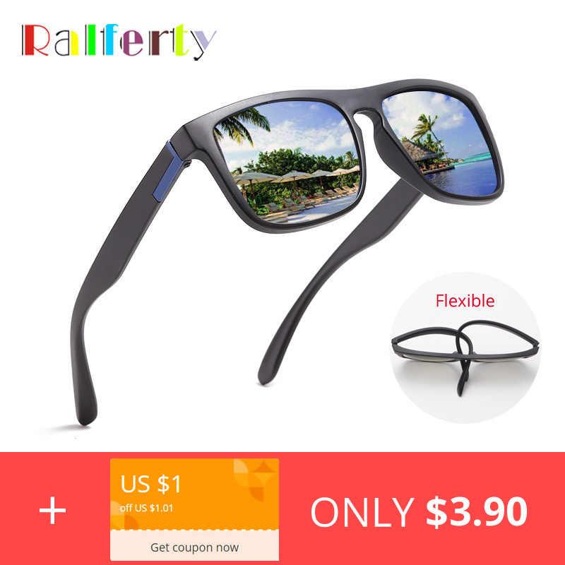d3d08a5ea2 Ralferty Square Sunglasses Men Women 2019 High Quality UV400 Polarized  Sunglass Flexible TR90 Sun Glasses Male