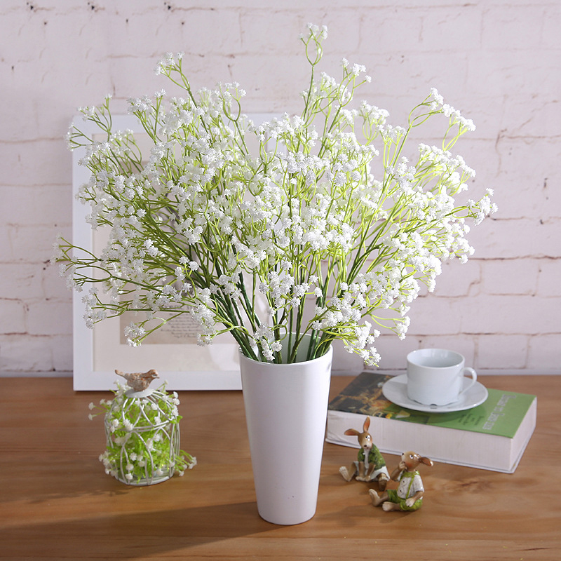1PC Artificial Babys Breath Graceful Plastic Flowers For Wedding Home Decorative Party Living Room P20 ...