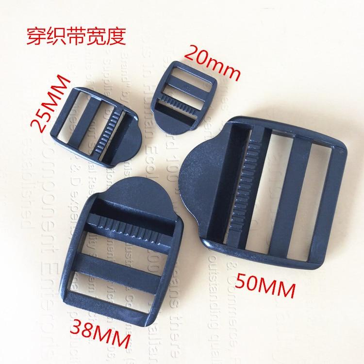 10Pcs Adjustable Ladder Lock Slider Webbing Buckles for Clothing Belts 20mm