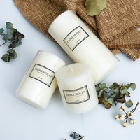 New White Scented candles High grade Romantic candle holder Aromatherapy Pillar candle Festival birthday wedding decoration