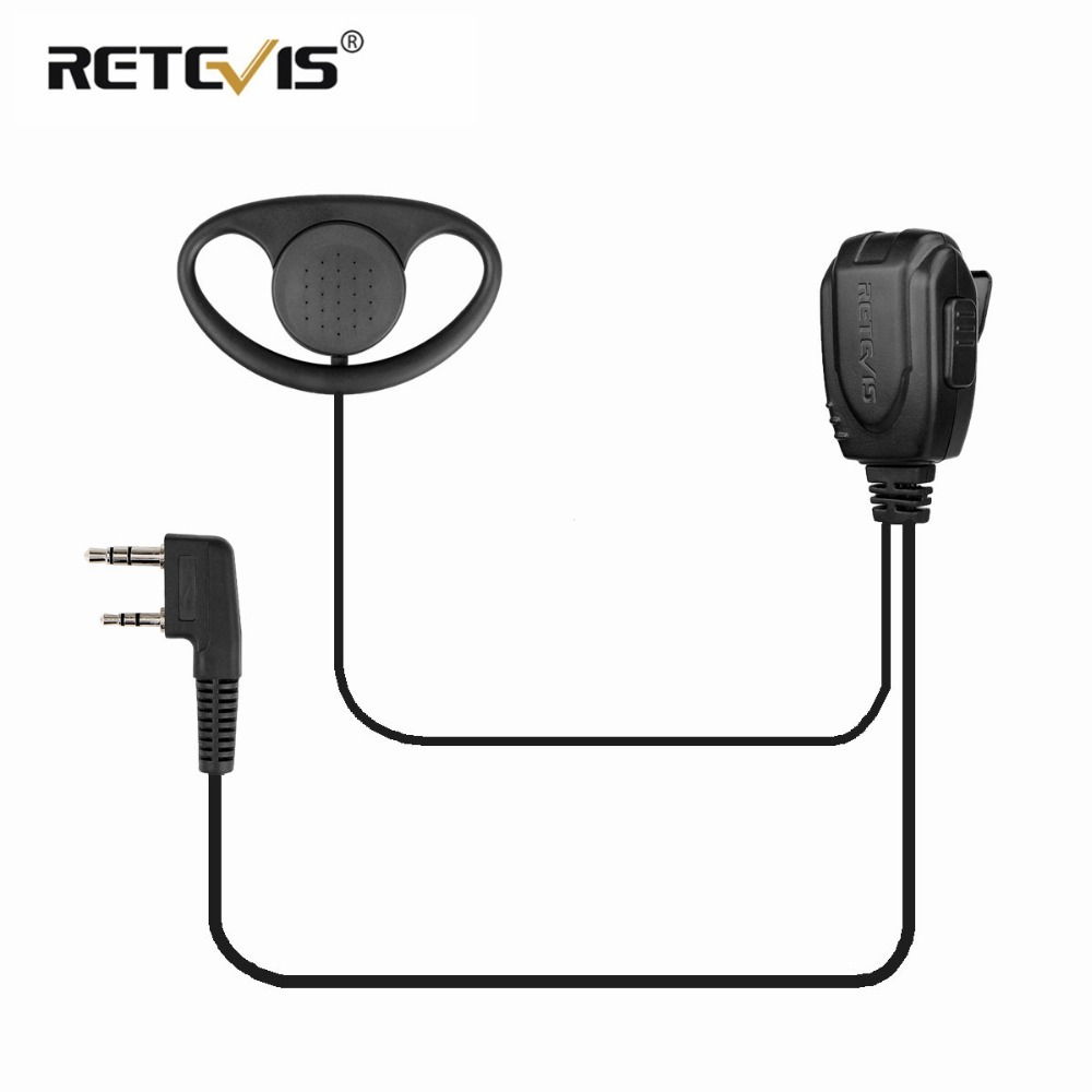 D-type Earhook Earpiece Headset Walkie Talkie Headphone For Kenwood Baofeng UV-5R UV5R UV-82 888S RETEVIS H777/RT22/RT81/RT-5R