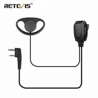 888s retevis h777 rt D-סוג Earhook אפרכסת אוזניות מכשיר הקשר אוזניות עבור KENWOOD Baofeng UV5R UV5R UV-82 888S RETEVIS H777 / RT22 / RT81 / RT-5R (1)