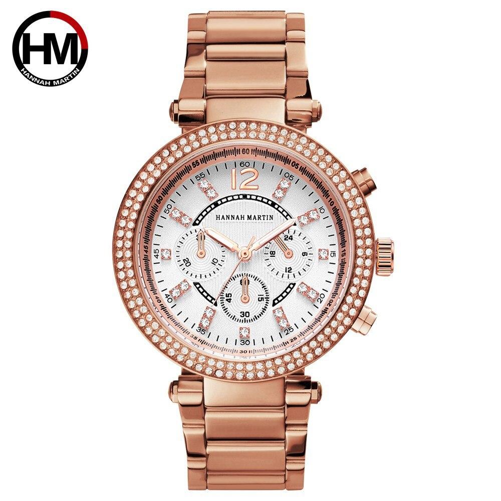 Luxury Brand Women Watches Quartz Watch Women Rose Gold Steel Ladies Watch Rhinestone Female Wristwatches reloj mujer Clock xfcs in Women 39 s Watches from Watches
