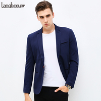 2017 New Fashion Brand Unique Mens Blazer Men Single Button Casual Blazer Slim Fit Royal Blue