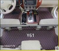 Высокое качество! Специальный автомобиль коврики для Nissan Patrol Y61 5 мест 2010 1997 водонепроницаемые ковры для Patrol 2007, Бесплатная доставка