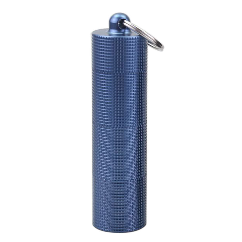 Daily Travel Sealing Mini Hygienic Multi Grid Outdoor With Key Ring Storage Emergency Weekly Waterproof Pill Box Aluminum Alloy