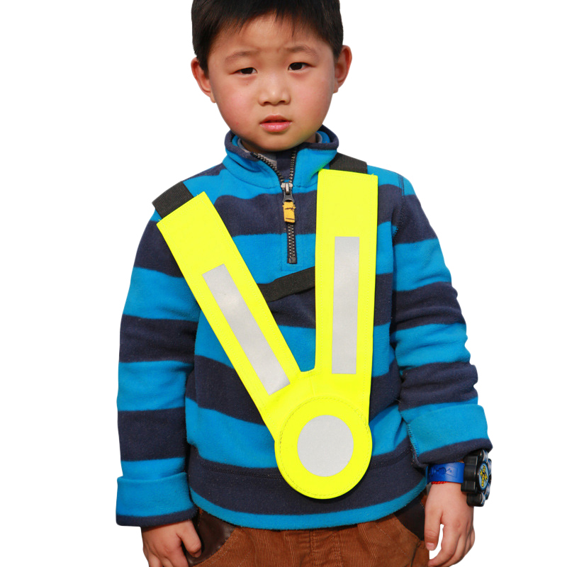 Childrens reflective vest kindergarten safety clothing reflective strap vests for child boy girl outdoor road traffic warning