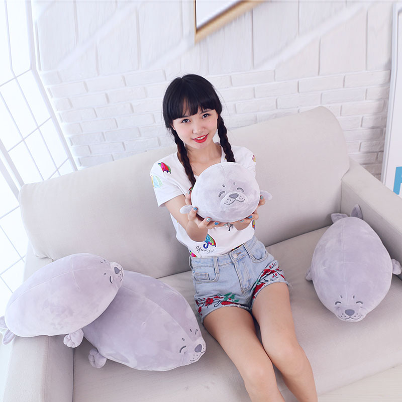 Big Emulational Animal Seal Giant Plush Toy Soft Seals Stuffed Doll Pillow Baby Play Gift  fancytrader seal plush baby doll large stuffed cartoon animal arctic seal toy white bear kids gift pillow 39inches 100cm