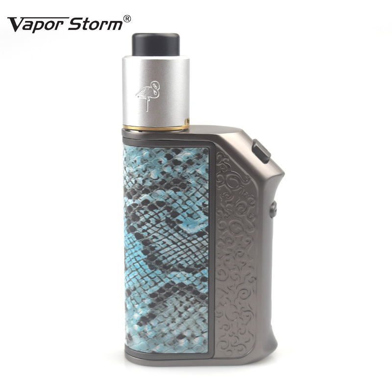 Electronic Cigarette Vapor Storm 200W TC Box Mod Flamingo RDA Tank Storm200 TC E Cigarette RDA RDTA Huge Vape Dual 18650 Battery