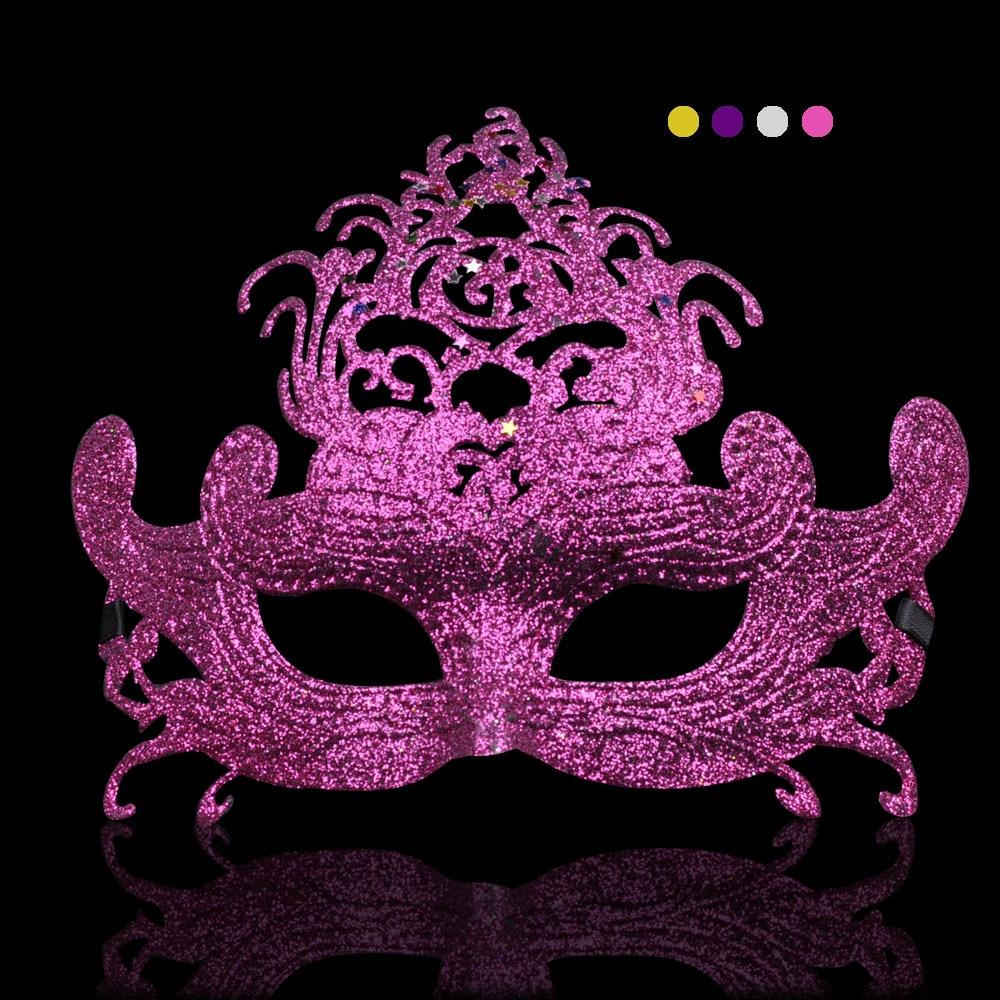 Color de lujo princesa máscara media Cara Halloween Venecia ...