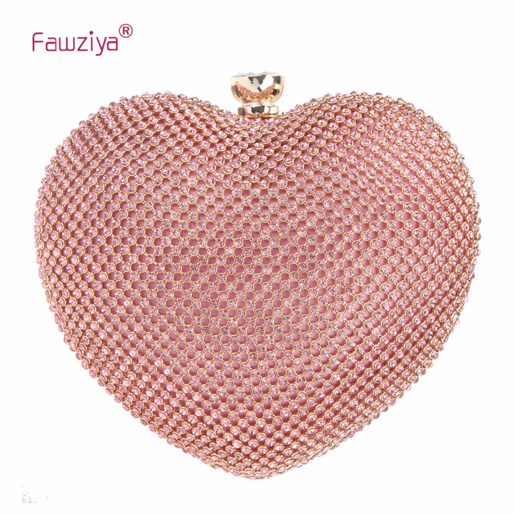 Fawziya Cute Heart Shape Clutch Purses For Women Clutches And Radiant Backpack Alligator Evening Bags