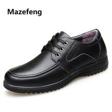 aa3af07bab91 Mazefeng 2018 Neue Sommer Männer Casual Leder Schuhe Vintage Männer Leder  Schuhe Reifen Stil Männlichen Business Schuhe Lace-up .