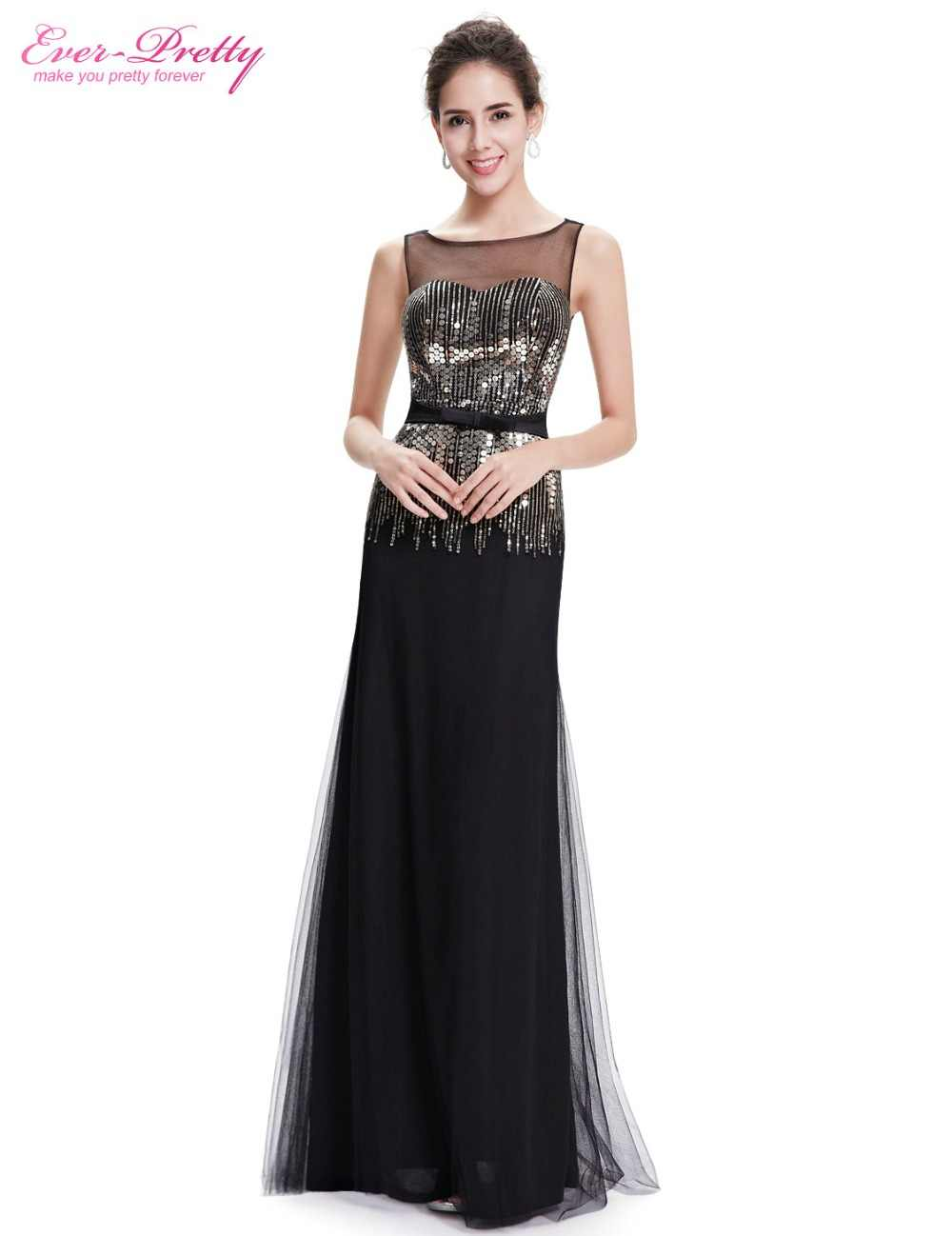 ...  Clearance Sale  Sexy Evening Dresses Ever Pretty HE08602 Black A Line  Sequins Dresses Women ... 595fdfbbe056