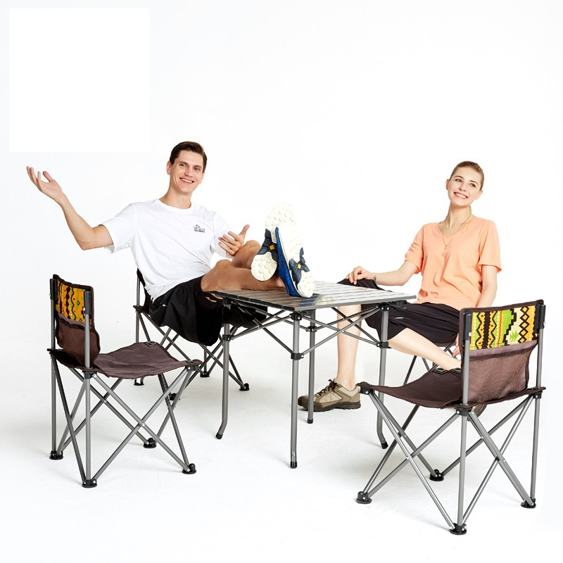 Outdoor folding table and chair 5 sets of portable storage wild camping leisure table stool combination setOutdoor folding table and chair 5 sets of portable storage wild camping leisure table stool combination set