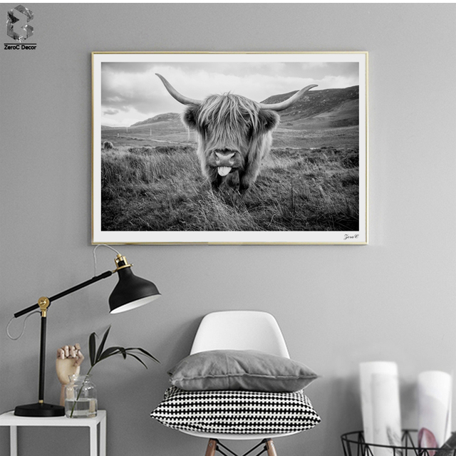 d141dfe9094 Highland Cattle Canvas Art Posters and Prints Painting