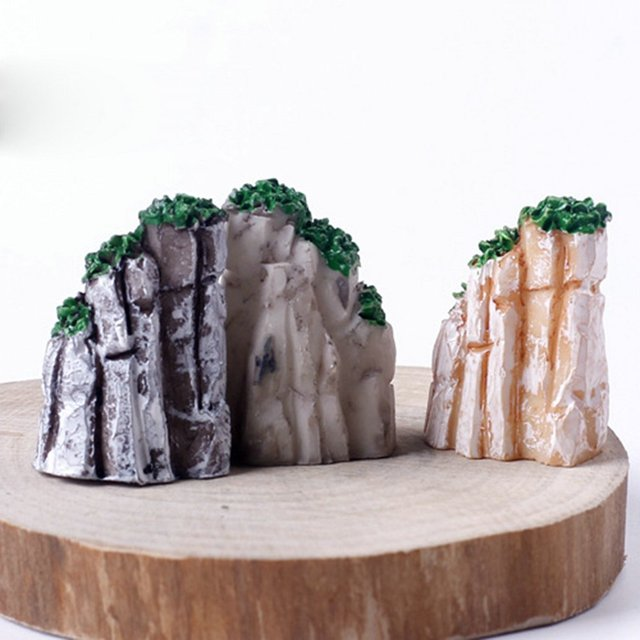 Bonsai Ornaments Plant Garden Accessories Natural Resin House
