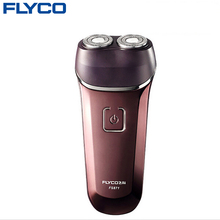 Flyco Men's Washable Rechargeable Rotary Electric Shaver Razor Twin Blade Floating hair barbeador Structure (110-220V) FS871