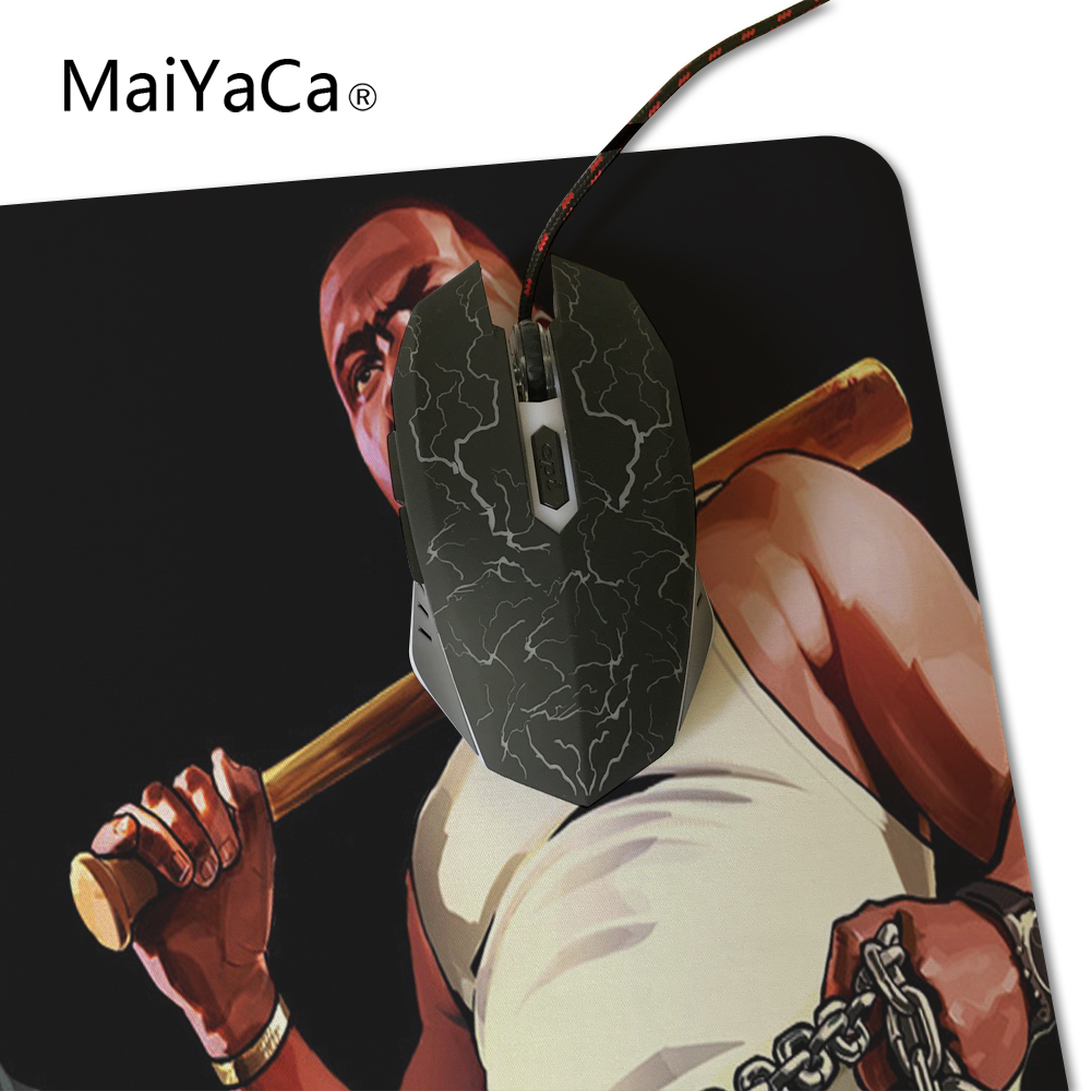 US $8 06 16% OFF|MaiYaCa Anime Grand Theft Auto V GTA5 Large Locking Edge  and Not Lockedge Keyboard mouse pads Table Mat For PC Laptop Mousepad-in