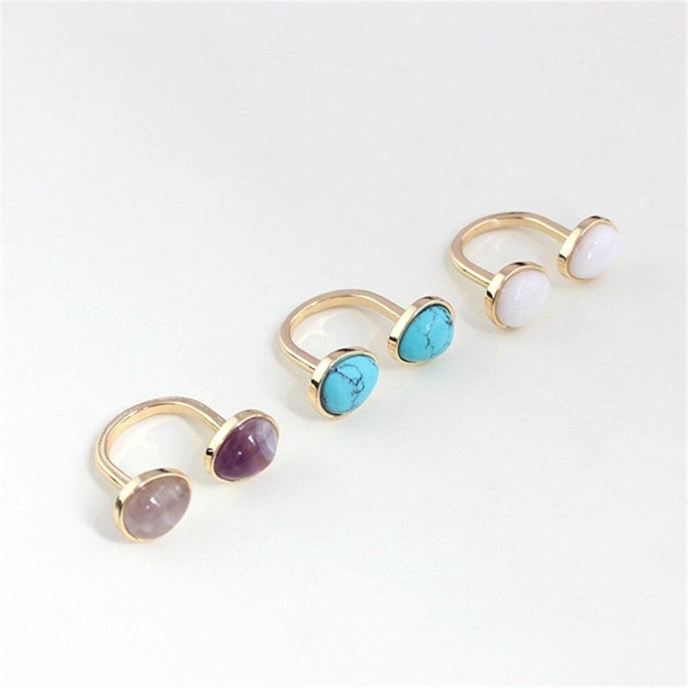 a1bfc52a712c Americanos europeos accesorios de moda al por mayor oval  púrpura blanco verde imitado piedra ficial incrustaciones de piedra  personalidad anillo