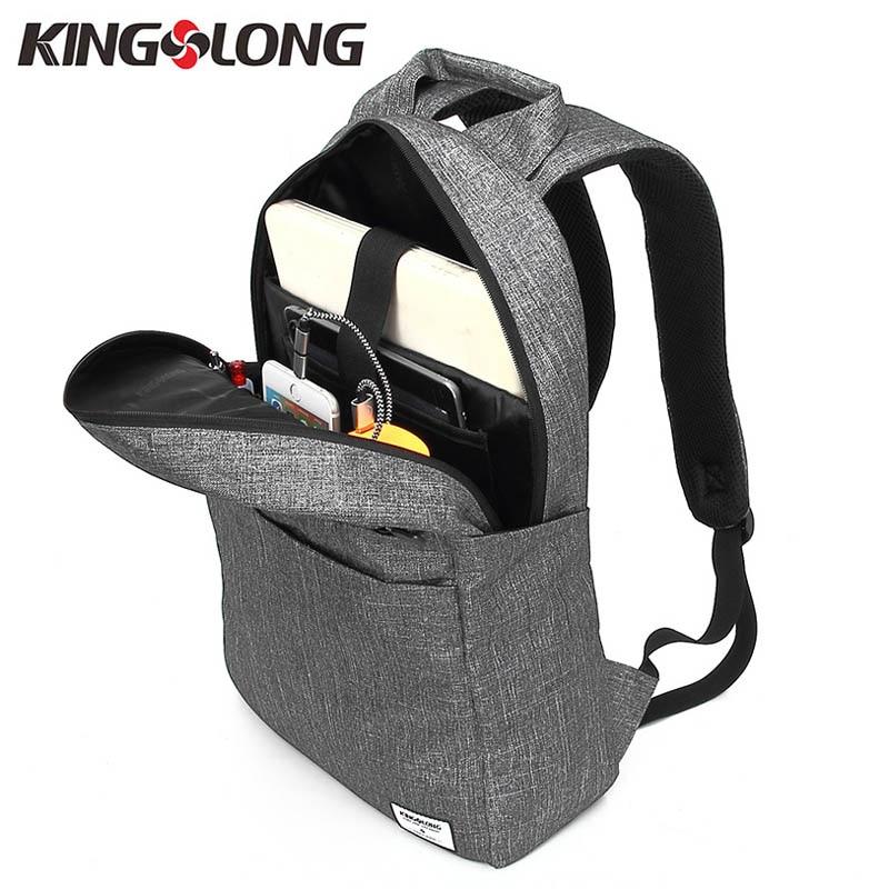 KINGSLONG Məktəb Sırt Laptop Çanta Sırt çantaları - Bel çantaları - Fotoqrafiya 3