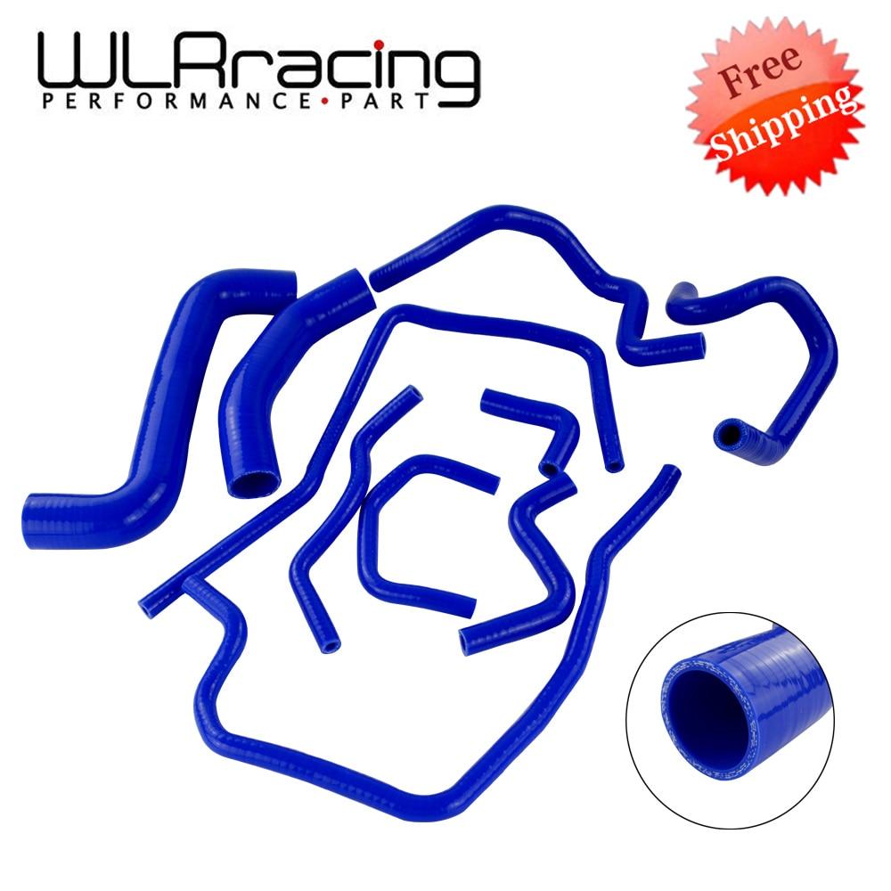 WLR RACING - Blue 10PCS Silicone Radiator Hose Kit for Subaru Impreza WRX/STi GDB,EJ20 WLR-LX1803D-MB vr racing light weight aluminum crankshaft crank pulley for subaru impreza wrx sti vr cp013