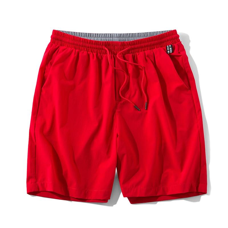 Anbican Fashion Red Casual Shorts Men 2019 Summer Brand New Quick Dry Loose Shorts Male Beach Shorts Big Size 5XL 6XL 7XL 8XL