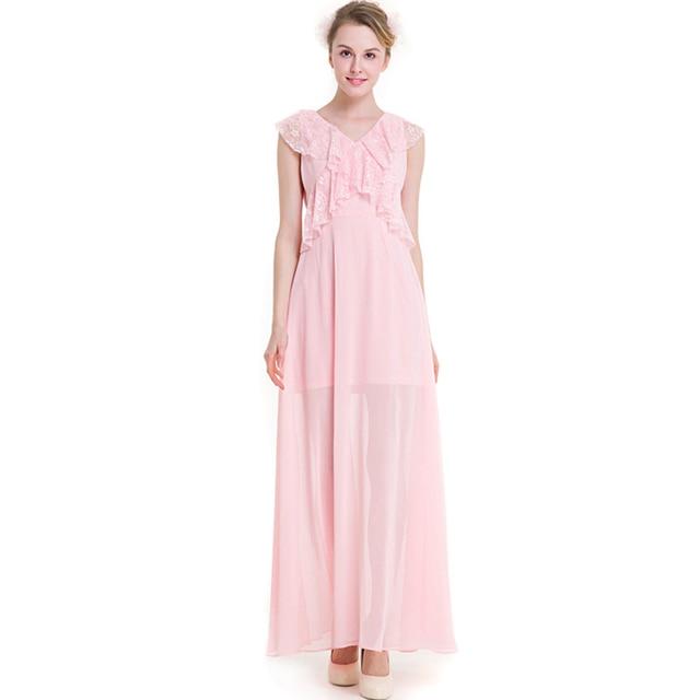 2018 Quality Chiffon Lace Long A Line Dress 3XL Big Size Gowns ...