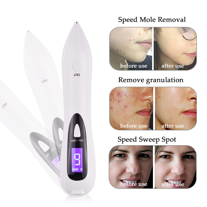 NEW LCD Skin Care Point Pen Mole Removal Dark Spot Remover Pen Skin Wart Tag Tattoo Removal Tool Laser Plasma Pen Beauty Care face skin mole removal dark spot wart tag remover deep clean rotary 4 in 1 electric pore cleaner tool scrubber beauty lady razor