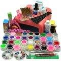 Маникюрный Набор 36 Цветов УФ-гель Гели для Ногтей Маникюрные Инструменты Сушилка лампа для ногтей