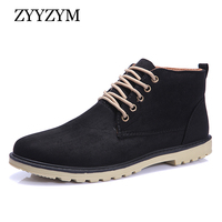 Men Casual Shoes 2018 Spring Lace Up High Solid Color Simple Style Non Slip Fashion Trend