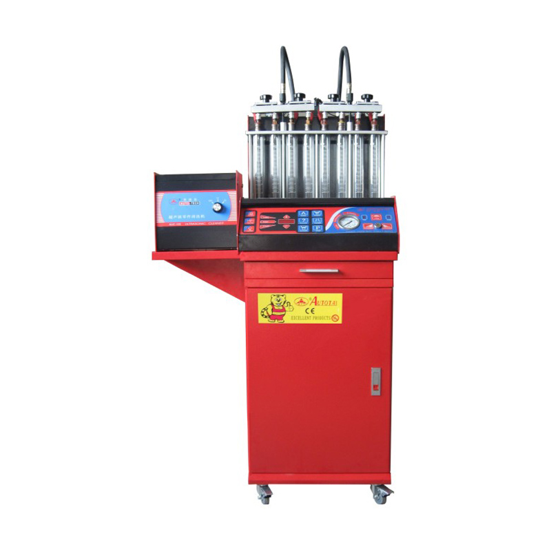 8 Cylinders Fuel Injector Tester And Fuel Cleaning Machine Luxury Ultrasonic Full Automatically Oil Recovery For Gasonline Cars