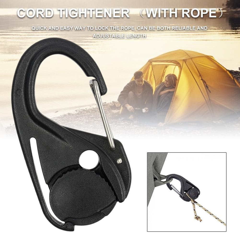2PCS Hang Rope Hook Portable Cord Tightener Lightweight Plastic Tie Hook Tent Accessories in Tent Accessories from Sports Entertainment